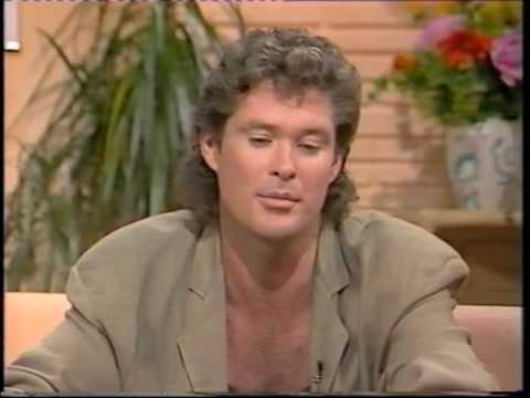 David Hasselhoff on TV-am in 1989