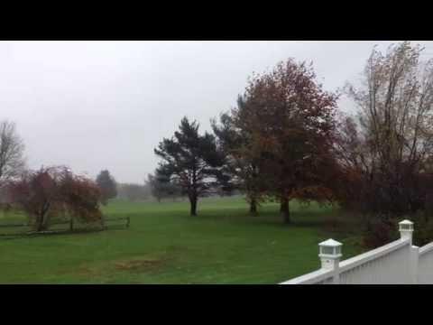 Hurricane Sandy Rolling into Cranston, Rhode Island