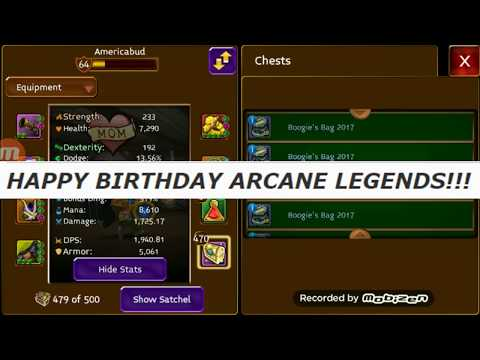 Arcane Legends 5th Birthday Event