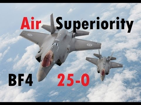 BF4 Air Superiority Jet Gameplay | 25-0 in 10 minutes - Dragon Pass | Turbopummel