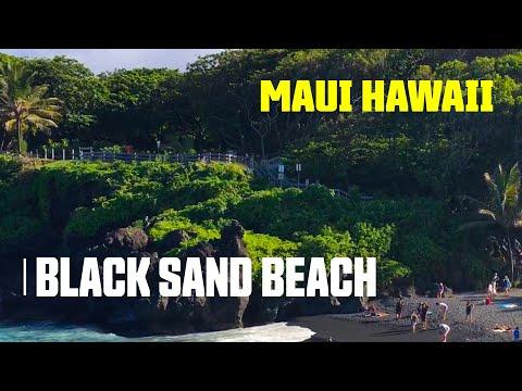 You Must Visit the Black Sand Beach Waianapanapa State Park Maui Hawaii : Ep.02