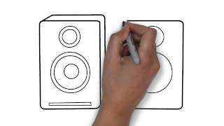 How To Draw Speakers (Pair)