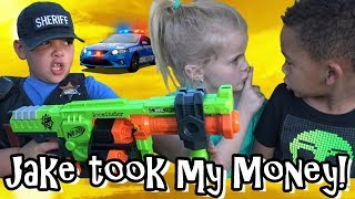 JAKE KICKED OUT HIS BROTHER - NERF BATTLE ROYALE - MONEY TAKER