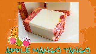 Making & Cutting Apple Mango Tango Handmade Soap ~ Petals Bath Boutique