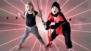 Ninja Tag! We play a fun new family game called Ninja tag. We have ...