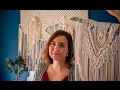 Mandy Morrison shows how she makes macrame