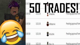 GOING THROUGH LOTS OF INBOUND TRADES! ROBLOX TRADE HANGOUT ! (ROBLOX TRADING)