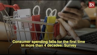 Consumer spending falls for the first time in more than 4 decades: Survey