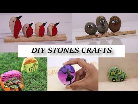 #HowtoPaintRocks #PebbleArt #PebbleCraft 7 Stone Craft Ideas | Painting Tutorial | Aloha Crafts thumbnail