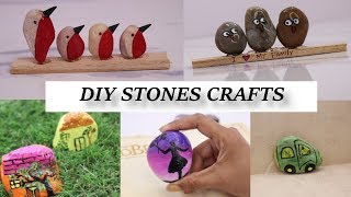 #HowtoPaintRocks #PebbleArt #PebbleCraft 7 Stone Craft Ideas | Painting Tutorial | Aloha Crafts