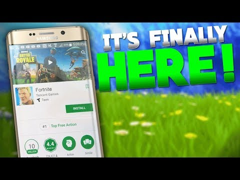Download Fortnite Mobile  on Android SOON! Release Date Confirmed!