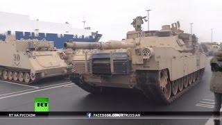Американские танки едут на «войну с Россией»: США увеличивают масштаб учений НАТО в Европе
