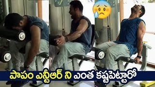 Jr NTR Latest Gym Workout For Rajamouli #RRR Movie | JR NTR New Workout Videos | Filmylooks
