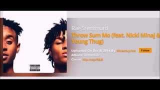Rae Sremmurd Throw Sum Mo  feat  Nicki Minaj & Young Thug