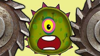 Суровый ЛИЗУН ГЛАЗАСТИК съедает все в городе 2! Игра Mutant Blobs Attack с ПАПУЛЕЙ