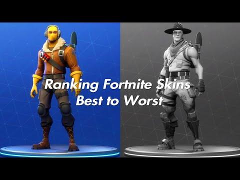 TOP 10 Skins in Fortnite Battle Royale