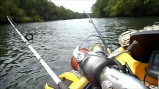 Скулкилл-Рівер каяк рибалка на сома і як я це роблю. 7 1 2016