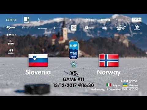 Slovenia - Norway #IIHFWJC1B #Bled