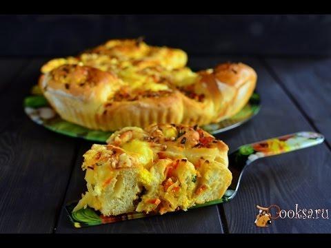 Рецепт выпечки  Пирог с капустой луком и яйцом