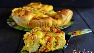 Рецепт выпечки  Пирог с капустой луком и яйцом(В нашей семье любят пироги с капустой и пироги с яйцом и луком. Чтоб не возиться с пирожками, я решила соедин..., 2016-03-03T11:15:21.000Z)