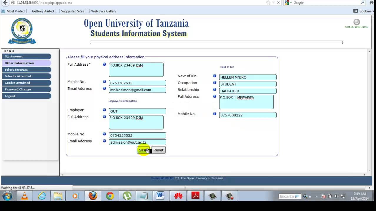 Open University Of Tanzania Online Application Video  Youtube. Urdu Signs. Quiz Signs Of Stroke. Double Tap Signs Of Stroke. Lewy Body Signs. Graffiti Signs Of Stroke. Man Woman Signs. Deficits Signs. Ridges Signs