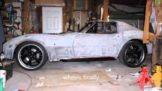 Building a 1974 C3 resto-mod corvette in 8 minutes