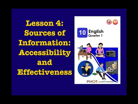 Sources of Information: Accessibility and Effectiveness | English 10