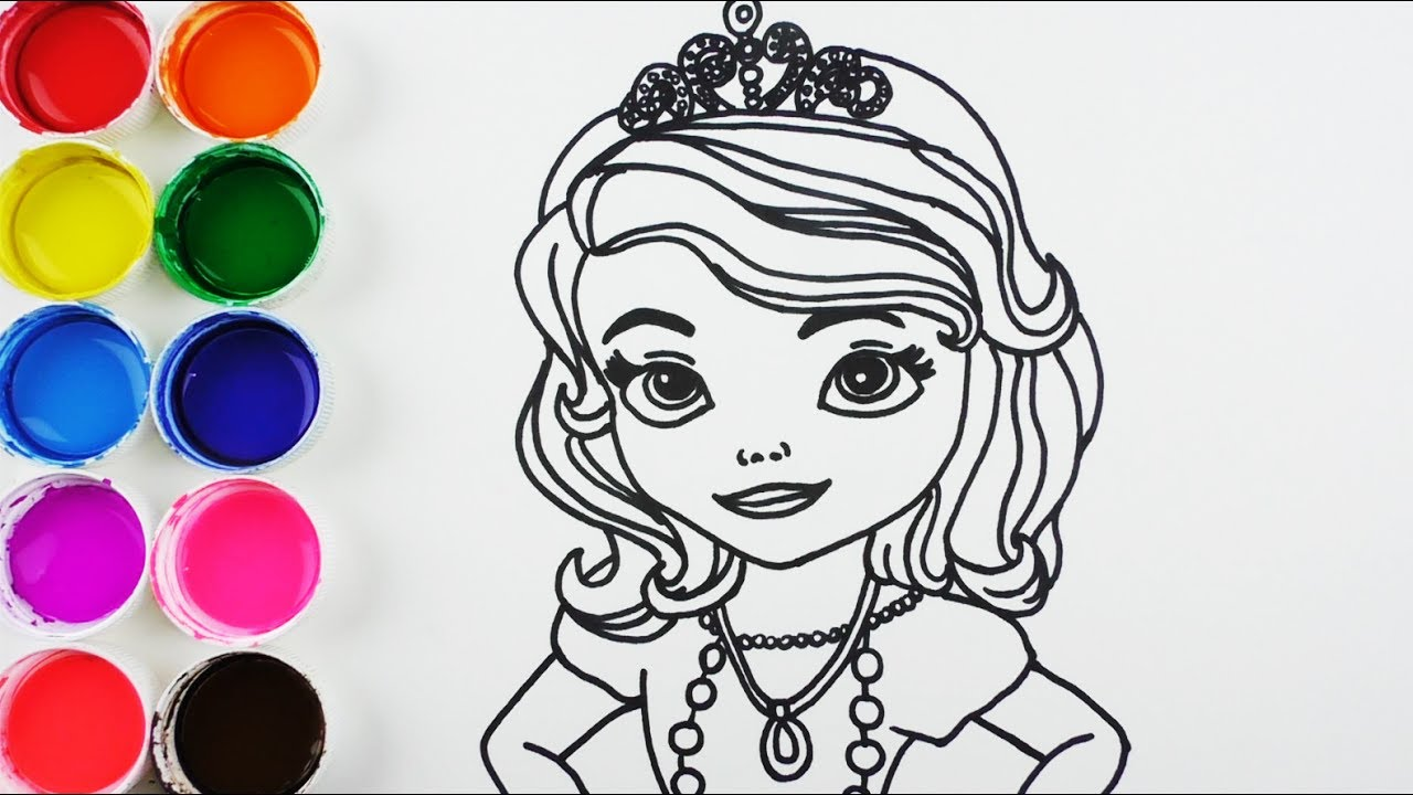 Como Dibujar Y Colorear Princesa De Arco Iris Dibujos Para Ninos