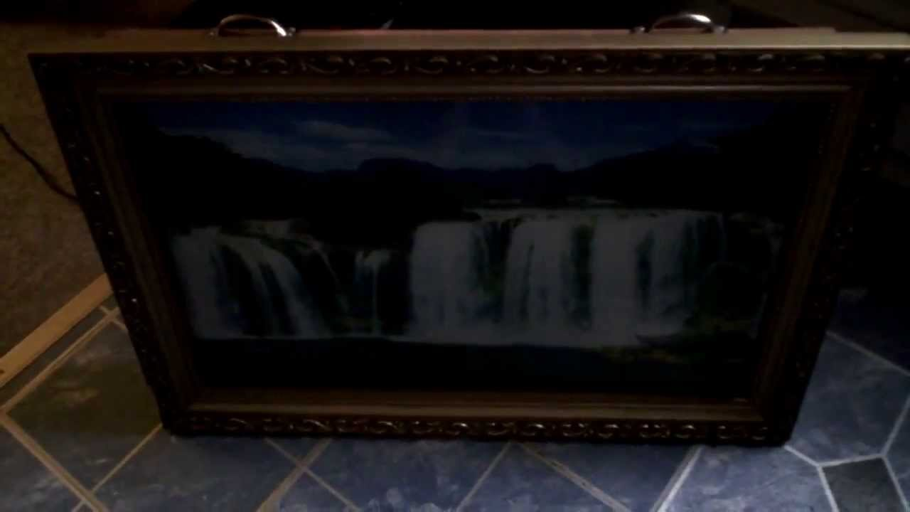 Moving Wall Art motion moving waterfall wall art - youtube