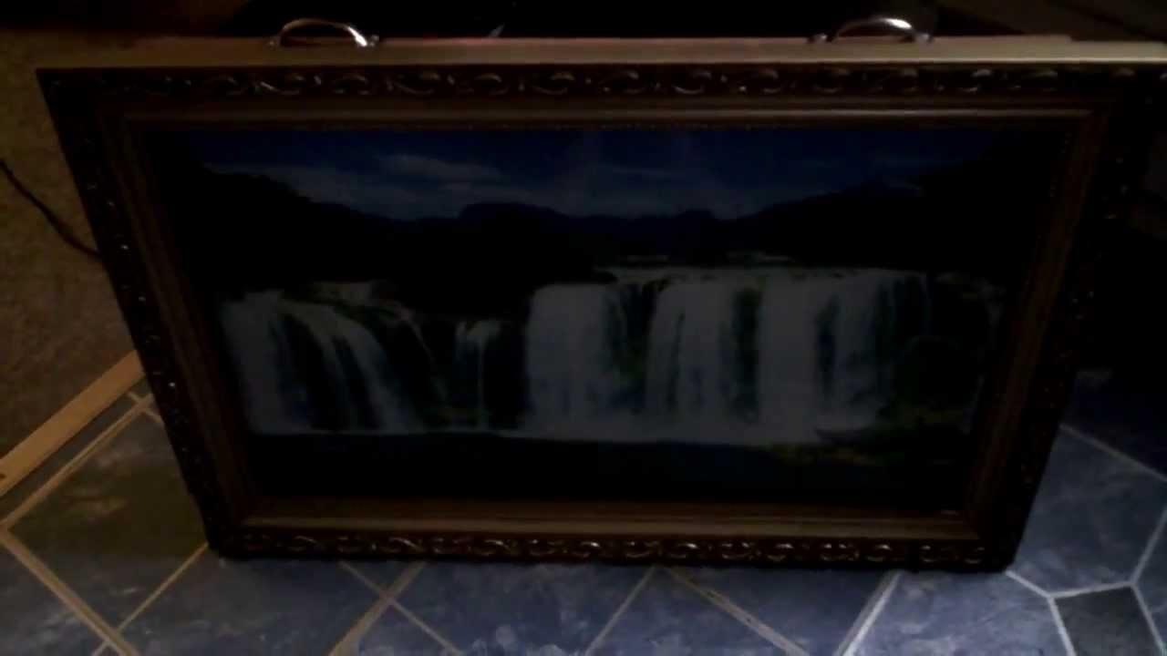 Motion Moving Waterfall Wall Art - YouTube