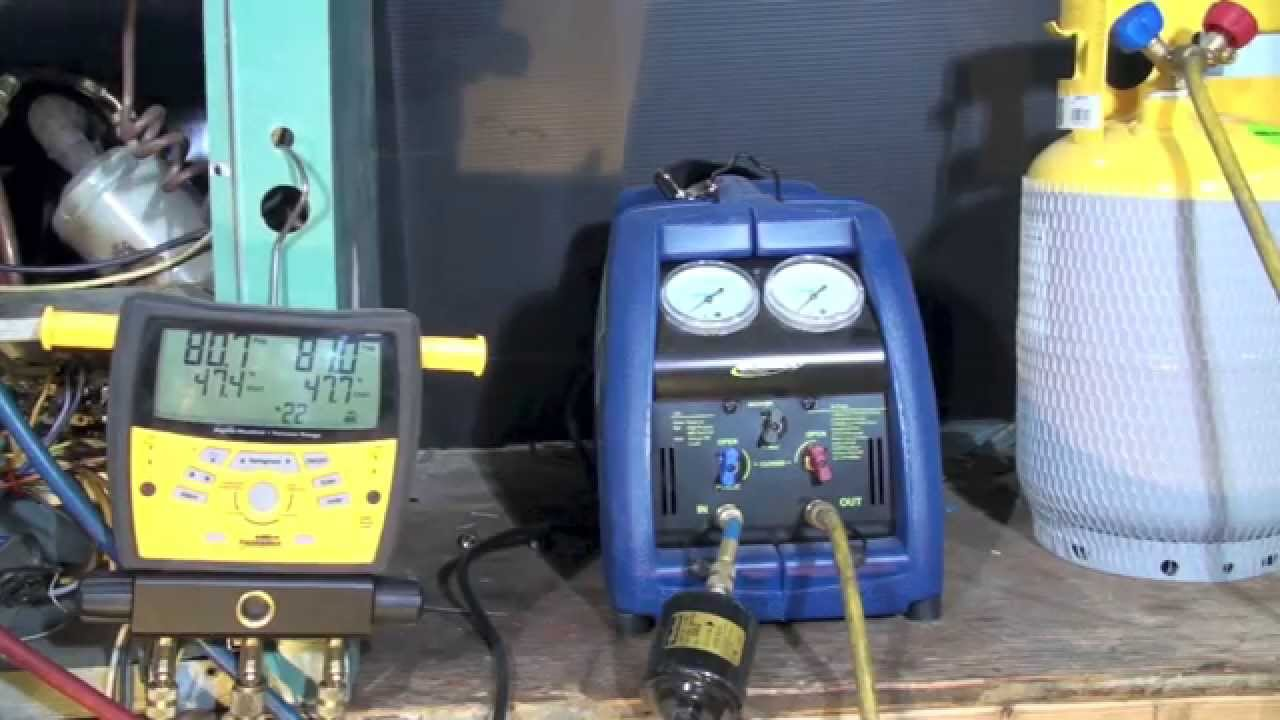 Refrigerant Recovery Operation Youtube