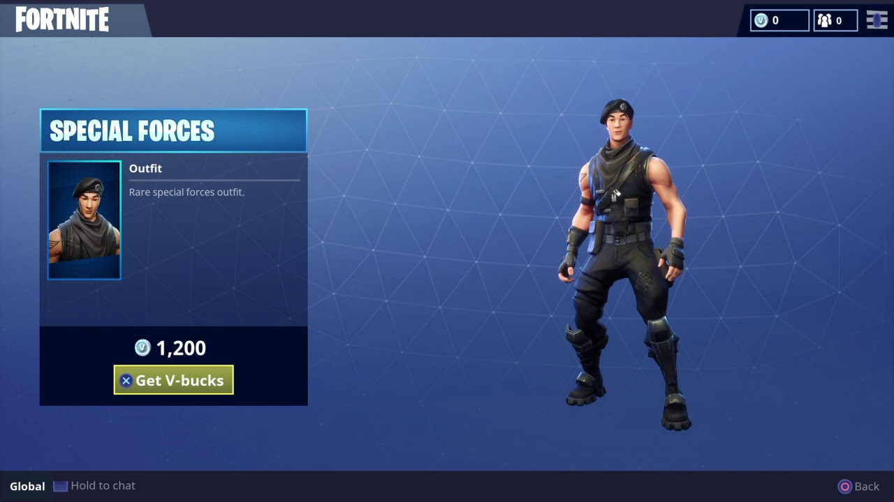 Rare Special Forces Skin for Fortnite Battle Royale - Daily Item - YouTube