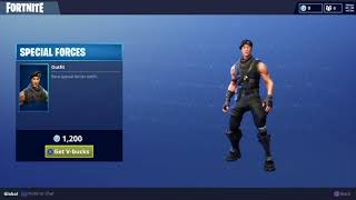 Rare Special Forces Skin for Fortnite Battle Royale - Daily Item