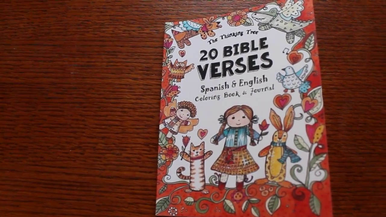 20 Bible Verses - Spanish & English - Coloring Book by The Thinking ...