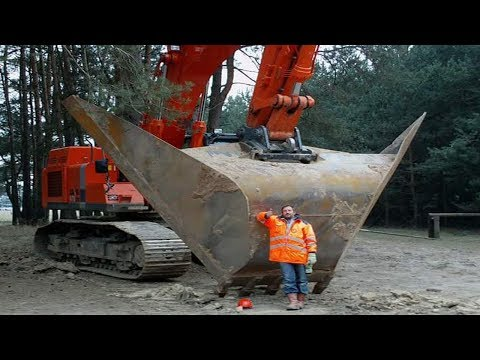 Thumbnail: Massive Earth Moving Machines!!...That Wonderful Engineering Equipment Excavator Big V Ditch Ripper