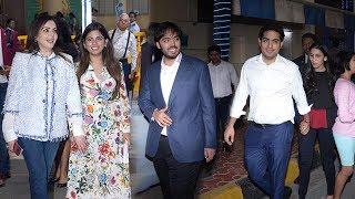Newly Wed Isha Ambani wid Family-Mother Nita Ambnai,Brothers Akash,Anant Ambani @AmbaniSchoolOpenDay