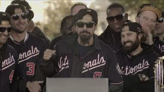 """Anthony Rendon at the Nationals World Series victory parade: """"I'm glad we finished up in my hometown"""
