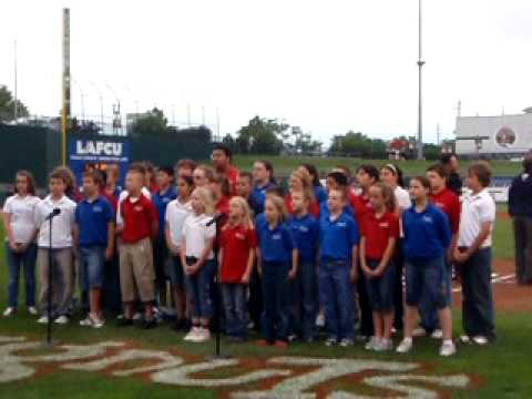 National Anthem Emanuel Lutheran School Lugnuts