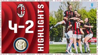 Highlights AC Milan 4 2 Inter Women s Coppa Italia semi final 2020 21