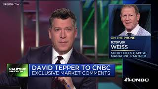 David Tepper thinks the market is as cheap as year ago due to tax cut 2018 01 04