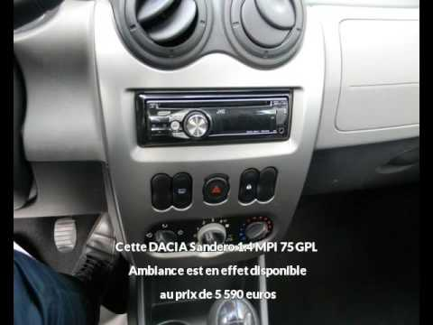 dacia sandero 1 4 mpi 75 gpl ambiance albi une occasion autotransac youtube. Black Bedroom Furniture Sets. Home Design Ideas