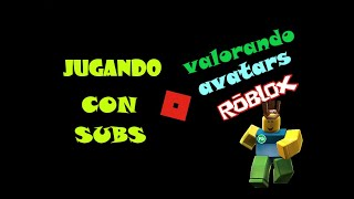 VALUE ROBLOX AVATARS AND GAME WITH SUBS #3