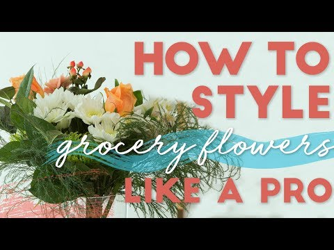 How To Style Grocery Store Flowers Like A Pro! | Valentine's Day Ready!