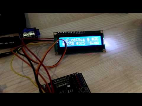 LCD 1602 I2C outputting error