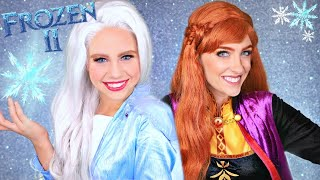 Disney Frozen 2 Elsa and Anna Makeup and Costume Elsa, Anna, Kristoff and Olaf Head Into the Unknown