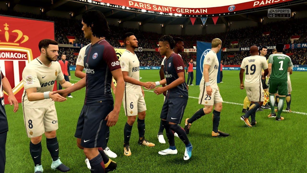 Fifa  Psg Vs As Monaco Parc Des Princes Full Gameplay