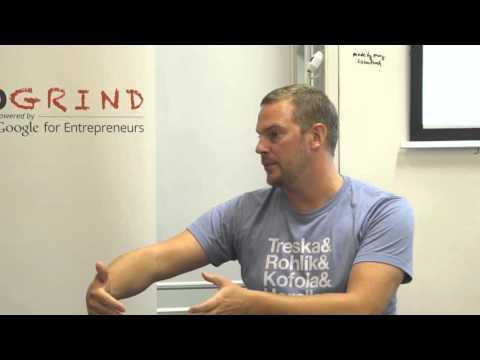 Filip Fischer (Charged Monkey) at Startup Grind Bratislava