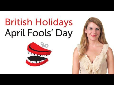 British English Holidays -  April Fool's Day