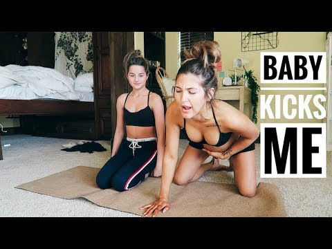 BABY KICKS ME DURING YOGA | Paige Danielle