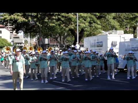 Washington All-State HS Marching Band | 2012 King Kamehameha Celebration Floral Parade
